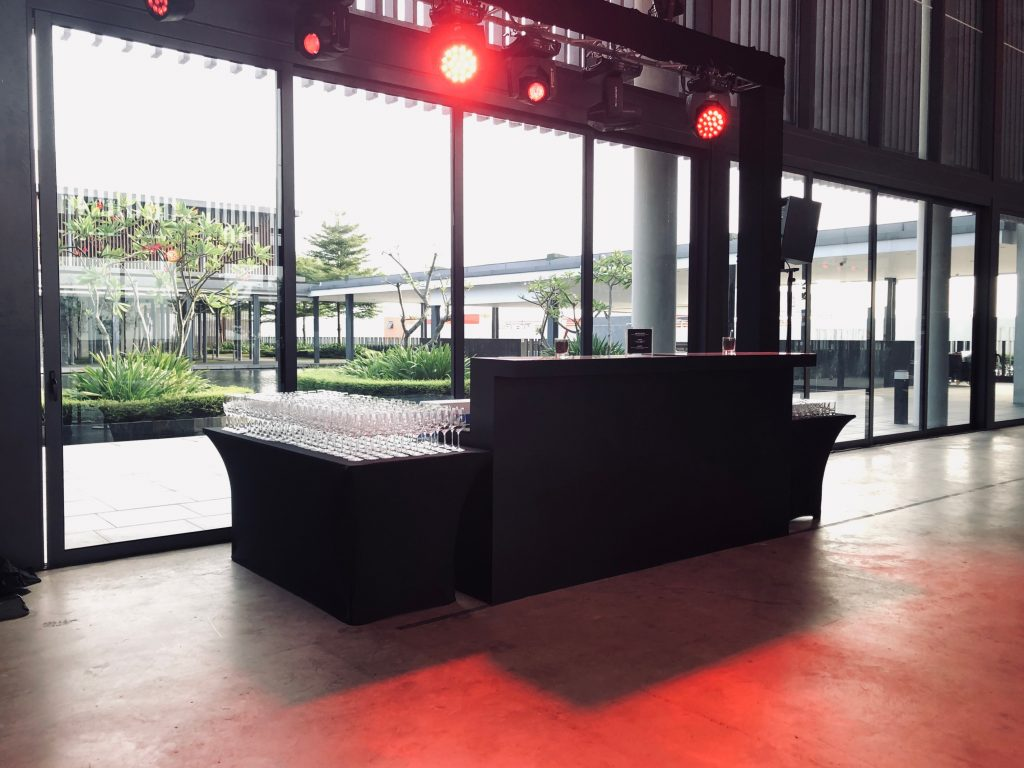 Mobile Bar Rental for Omega's product launch event