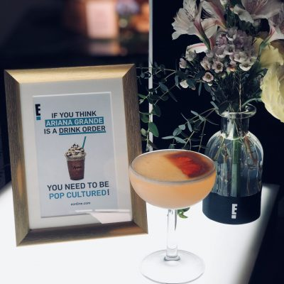 Specialty cocktail for E!online red carpet